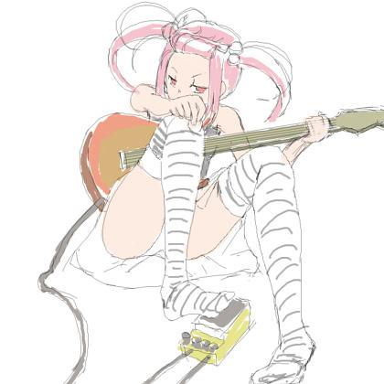 ギターと少女_元絵